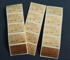 """50 Etiquettes cadeau """"Joyeux noël """" stickers autocollantes doré or"""