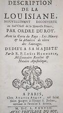 HENNEPIN: DESCRIPTION DE LA LOUISIANE (AMÉRIQUE DU NORD, USA) - PARIS 1688.