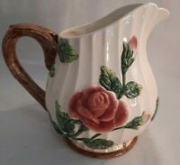 Vintage Fitz and Floyd 1 1/4 QT, 1995 OMNIBUS   Rose Pitcher, Nice