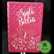 Biblia tamaño manual letra grande con índice imitación piel Rosa RVR 1960