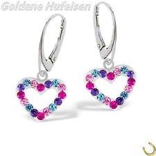 Liebe & Herzen-Ohrschmuck ohne Steine aus echtem Edelmetall für Damen