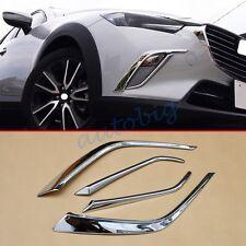 Chrome Front Fog Light For Mazda CX3 2016+ Accessories Decoration Trim Molding