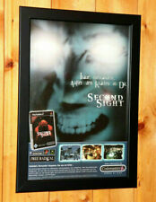 Second Sight publicitaires Feuille été encadré poster/OLD AD page Framed ps2 Gamecube XBOX