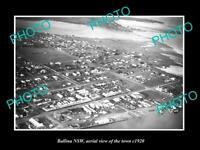 OLD POSTCARD SIZE PHOTO OF BALLINA NSW AERIAL VIEW OF THE TOWN c1920 3