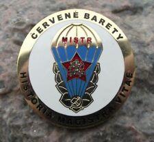 Czech Parachute Regiment Army Red Beret Historia Magistra Vitae Master Pin Badge