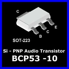 20 St.  BCP53 -10  PNP Si Audio Transistor Philips  low saturation 80V 1A 1W