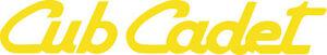 CUB CADET DIE CUT DECAL / STICKER - Set of 2 - YELLOW