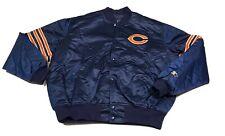 Vintage Chicago Bears Starter Proline Satin Jacket Blue MENS Size XL