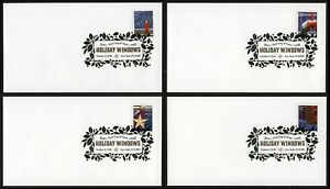 #5145-5148 Holiday Windows, Digital Color FDC ANY 5=