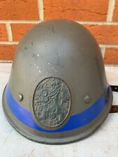 Rare Original WW2 Dutch Army M34 Helmet - Reused Post War Civil Defence