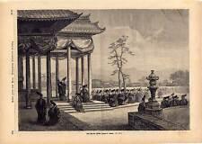 Japan - Nippon - Nihon - Zin-gu Fest - Holzstich um 1870