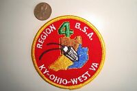 OA BOY SCOUT AMERICA BSA FLAP REGION 4 FOUR KY OHIO WEST VA POCKET PATCH