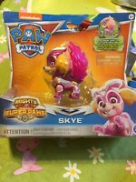PAW PATROL MIGHTY PUPS SUPER PAWS SKYE FIGURE NEW