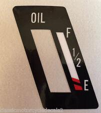 YAMAHA RXS100 SIDE PANEL OIL TANK LEVEL RESTORATION DECAL