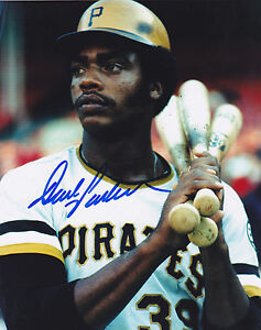 DAVE PARKER  PITTSBURGH PIRATES  ACTION SIGNED 8x10