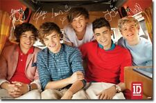 1D ONE DIRECTION ON BUS POSTER BOY BAND GROUP NEW 22x34 FAST FREE SHIPPING