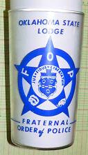 vintage Glass Sapulpa Oklahoma State Lodge Fraternal Order of Police