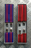 Retro Vintage Unisex Slim Clip-On Elastic Braces / Suspenders - Adjustable - NEW