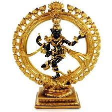 "DANCING SHIVA STATUE 12.25"" Nataraja Hindu God HIGH QUALITY Black Gold Resin NEW"