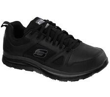 77040 Wide Width Black Skechers Shoe Work Men Memory Foam Slip Resistant Leather