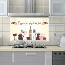 Kitchen Oilproof Removable Wall Stickers Decal Home Mural Wine Glass Art Decor *
