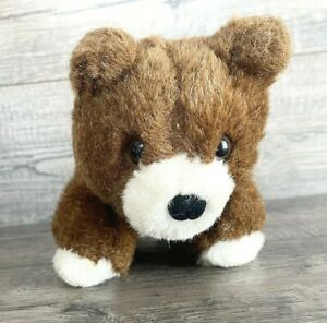 "Vtg 86' Applause Plush Brown Bear Cub 5x8"" Standing All Four Legs Stuffed Animal"