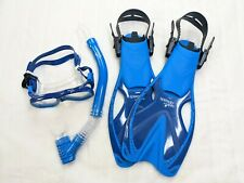 New listing Speedo Junior Reef Scout MSF Snorkel Set S/M- Blue/Clear NEW