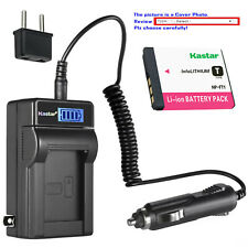 Kastar Battery LCD AC Charger for Sony NP-FT1 FT1 Sony Cyber-shot DSC-T5 Camera