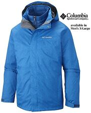 Columbia Men's size XL Morningside Park Waterproof 3-in-1 Jacket Marine Blue NWT