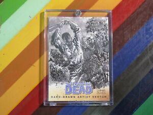 2013 Cryptozoic Walking Dead Sketch Card - Jomar Bulda 1/1 Set 2