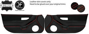 RED  STITCH 2X FULL DOOR CARD LEATHER&SUEDE COVERS FOR HONDA CRX DEL SOL 92-97