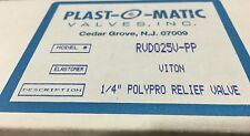 PLAST-O-MATIC Pressure Relief Valve, 1/4In, 5 to 100 psi