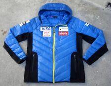 Spyder 2019 US Ski Team hooded Down Puffer Jacket Men's XL Blue