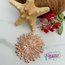 MAGNETIC BROOCH SCARF PIN CLIP,  ROSE GOLD STARBURST DESIGN NICKLE & LEAD FREE