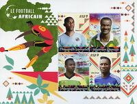 Gabon 2018 MNH African Football Roger Milla Didier Drogba 4v M/S Soccer Stamps