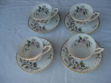 Syracuse Fine China Apple Blossom 4 Cup and Saucer Sets