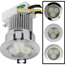 NEW LED 9W High Power Downlight IP54 Chrome 410lm Each
