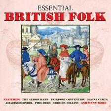 BRITISH FOLK - THE ESSENTIAL (Various Artists) Inc F Convention, E MacColl 2CD