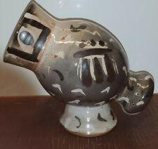 Japanese Style Pottery Vase Shino Glaze Unique Design