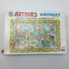 Vintage Arthur's Birthday Jigsaw Puzzle Great American Puzzle Factory 60 pc 1993