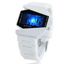 NEW Cool Punk HI-tech LED Blue Light Digital Sport Wrist Watch Men Reloj Odm Uhr