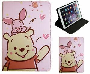 For iPad Pro 9.7 / iPad 9.7 / iPad Air 1-2 Winnie The Pooh & Piglet Case Cover +