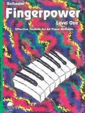 "JOHN SCHAUM ""FINGERPOWER"" LEVEL ONE-1 PIANO METHOD MUSIC BOOK BRAND NEW ON SALE!"