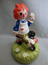 Raggedy Ann Musical Figurine Schmid 1980 Limited Edition 2390/10,000