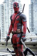 Ryan Reynolds DeadPool 2 Movie Motorcycle Leather suit with Full Accessories