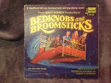 Bedknobs & Broomsticks & Peter & The Wolf Record LP w/Storybook (69/71 Disney)