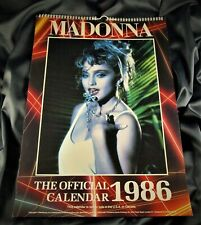 MADONNA OFFICIAL UK CALENDAR 1986 BOY TOY INC/DANILO (misprint)