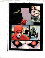 Original 1996 Daredevil 357 page 19 Marvel Comics color guide art:1990's/Mr Hyde