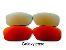 Galaxy Replacement Lenses For Oakley Hijinx Red&Gold Polarized 2 Pairs