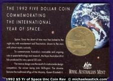 1992 $5 Uncirculated Coin - Space